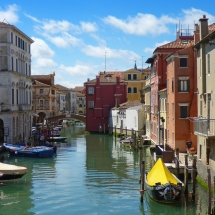 "Vogalonga 2016- 32. Ruhige ""Seitenstraße"" in Venedig."